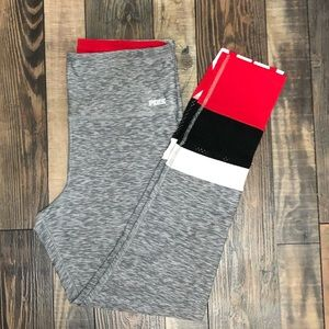 Gray, Black and Red VS Pink Legging
